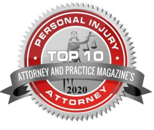 Personal Injury Attorney top 10 badge